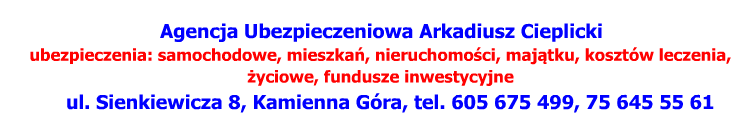 Agencja ubezpieczeniowa - A. Cieplicki